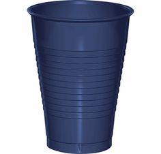 Navy 12 oz Plastic Cups