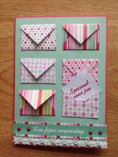Card with envelopes - Kaart met enveloppen