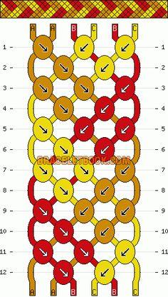 Normal Friendship Bracelet Pattern #273 - BraceletBook.com