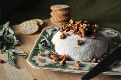 Savory Coeur a la Creme (maple nutmeg walnuts + sage, onion, cream cheese, heavy cream)