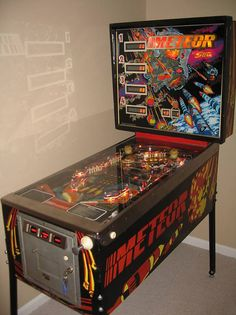 """Stern's 1979 """"Meteor""""...got to play a mint condition one recently. Very fun!"""