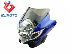 MOTORCYCLE GSXR BANDIT 400 SV SV1000S SV650S STREETFIGHTER STUNT HEADLIGHT GS NEW BLUE-in Headlights from Automobiles & Motorcycles on Aliexpress.com