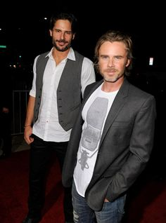 Joe Manganiello and Sam Trammell. That's a lot of pretty in one picture!