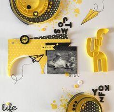 Page ''le jaune, le soleil, le bonheur'' deScrapi splatch