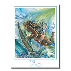 Duck Dive - Unmatted Print – Colleen Wilcox Art