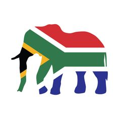 Shop Elephant South Africa Flag south africa t-shirts designed by mstory as well as other south africa merchandise at TeePublic. South Africa Art, South Africa Rugby, South African Flag, South African Design, Africa Flag, Africa Silhouette, Elephant Sketch, African Colors, Flag Art