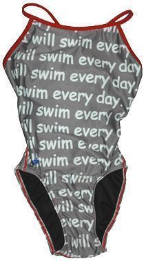 Girls swimsuit - I swim everyday. And practice everyday. And race everyday. #swimming #swimsuit #natacion #racingswimsuits