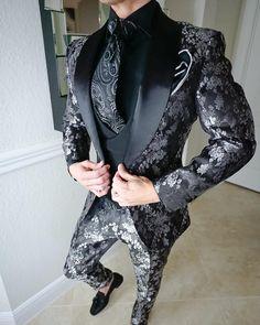 K:2725 jacket+pants+tie Gentle High Quality Mens Suits Groom Tuxedos Groomsmen Wedding Party Dinner Best Man Suits