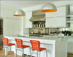 This kitchen lighting adds color and bright lights into your kitchen.