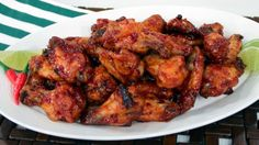 Fish Wings, Sticky, spicy, savoury and sweet chicken wings from Chef Michael Smith Roasted Chicken Wings, Bbq Chicken, Tandoori Chicken, Chicken Flavors, Chicken Recipes, Chef Michael Smith, Stuffed Whole Chicken, Pork Dishes, Dessert