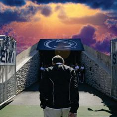 I believe this is what it looked like when joe paterno entered the gates of heaven