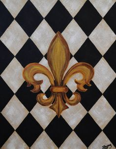 I like the way the fleur de lis is painted here