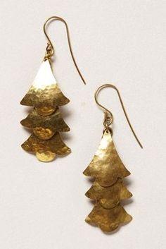 Gingko Chandeliers Earrings #chandelier #earrings #gold
