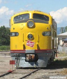 Milwaukee Railroad Engine E9A #36A in Deer Lodge, MT