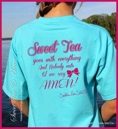 Southern Made Sweet Tea Amen Short Sleeve Comfort by InkOnAShirt, $22.00