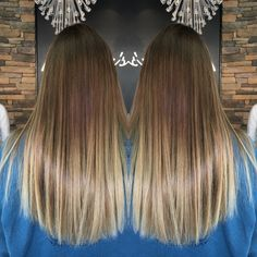 Wella freelights  natural ombré Blonde Long hair Brooke Lynch ig: brooke_hair_nails