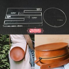 Leather Craft Clear Acrylic Shoulder Bag Round Bag Pattern Stencil Template DIY - Accessories of Women Leather handbag, Shoulder Bag, Leather Bag Acrylic Template - 1 size for choose, Leathercraft Patter 1 set of Acrylic Stencil Set (shoulder bag is not i Leather Bag Pattern, Leather Bag Tutorial, Handbag Tutorial, Purse Tutorial, Tote Pattern, Diy Sac, Diy Hanging Shelves, Round Bag, Cute Diys