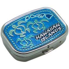 "Hawaiian Honu Pill Box 2.25"""" X 1.5"""""