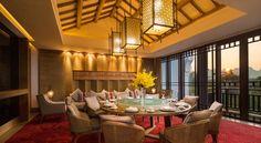 Banyan Tree Yangshuo Hotel Yangshuo, China: #architect Architrave Design & Planning Services Pte Ltd. #interior Architrave Design & Planning Services Pte Ltd. #landscape AECOM #lightingdesign @visionlightingdesign