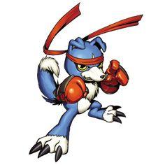 Gaomon - Rookie level Beast digimon.  It's a Riolu!