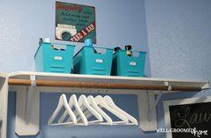 Laundry Room Organization; #ikea hangers - Well-Groomed Home