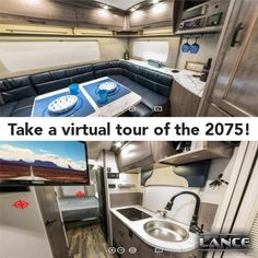 The Lance 2075 Travel Trailer is large enough for a family of four! Learn all about this travel trailer here! Lance Campers, Rv Show, Construction Design, Truck Camper, Travel Trailers, Tailgating, Tours, Caravan, Camper Trailers