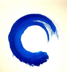buddhist blue enso: represents a life long journey and a balanced life
