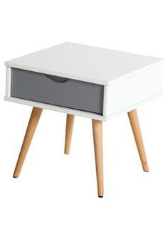 Retrohenkinen trendikäs yöpöytä/lamppupöytä