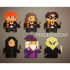 Harry Potter characters - Original perler bead designs by perlertricks (by Perler Bead Designs, Hama Beads Design, Diy Perler Beads, Perler Bead Art, Pearler Beads, Melt Beads Patterns, Pearler Bead Patterns, Perler Patterns, Beading Patterns
