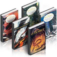 "Meu xodó! Saga Tolkien: ""O Silmarillion""; ""O Hobbit""; ""SdA: A sociedade do Anel""; ""SdA: As duas Torres""; ""SdA: O retorno do rei""; ""Contos Inacabados""; ""Filhos de Húrin"" :D"