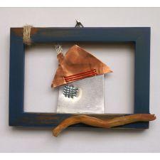 House and driftwood Driftwood, Handicraft, Floating Shelves, Objects, Handmade, House, Home Decor, Art, Craft