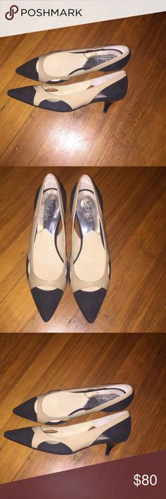 Michael Kors flats wth small heel Brand new black and nude Michael Kors flats with a small heel, pointed toe, great for business casual attire! Never been worn because they're too big on me MICHAEL Michael Kors Shoes Heels
