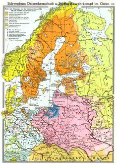 Swedish Empire in 1569 (German Language)