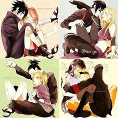 Hahaha Naruto seems to be so happy over there with Hinata