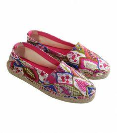 """Souleiado - Espadrille """"Plumes"""" rose - Chaussures - Accessoires • Souleiado - Mode femme et art de vivre provençal"""