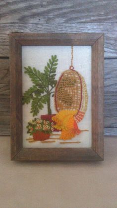 Vintage Completed Sunset Designs Needlepoint by EcelecticOne, $8.99