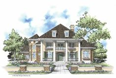 Eplans NeoClassical House Plan - Alluring Two-Story Turret - 3611 Square Feet and 4 Bedrooms  Great layout