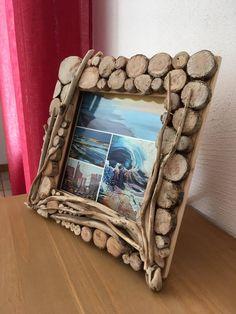Dremel Projects, Diy Cardboard, Wood Mirror, Rustic Interiors, Tree Art, Driftwood, Picture Frames, Fantasy Art, Ale