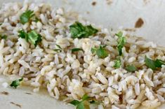 Chipotle Rice....we made this and it is AMAZING. We tweaked it a bit..extra cilantro and a little extra lime juice. Follow the rice recipe and it turnes out perfect.