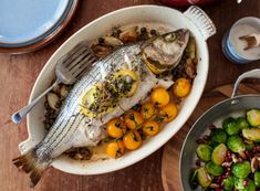 Bringing back Sunday dinner {new series}: Herb-Roasted Striped Bass
