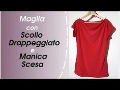 (4) Come Cucire Una Maglietta Con Scollo Drappeggiato E Manica Scesa - YouTube