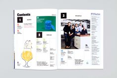 The redesigned table of contents.