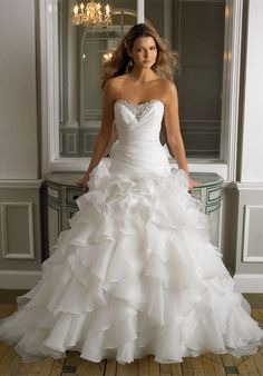 Check out this #weddingdress: J6241 by Moonlight via iPhone #TheKnotLB from #TheKnot