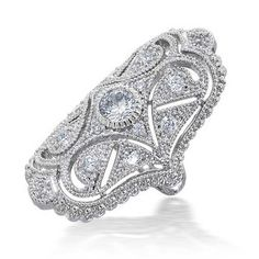 Now just 29.99 Bling Jewelry Great Gatsby Inspired CZ Vintage Style Full Finger Armor Ring click to see sizes available