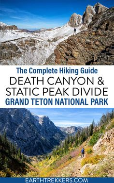 Everything you need to know to hike Death Canyon, Phelps Lake Overlook, and the Static Peak Divide in Grand Teton National Park. #nationalpark #grandteton Us National Parks, Grand Teton National Park, Travel And Tourism, Travel Usa, Hiking Guide, Adventure Activities, Packing List For Travel, Outdoor Adventures, Travel Around