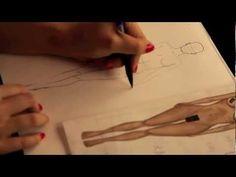 ▶ Lesson no.2, P.2 - BODY, MOVEMENT, Fashion Drawing - YouTube