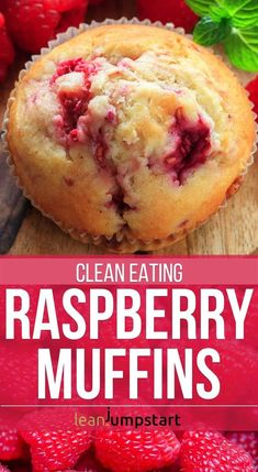 The here presented clean eating raspberry muffins let you indulge wisely without. The here presented clean eating raspberry muffins let you indulge wisely without sugar and starches Clean Eating Muffins, Clean Eating Vegetarian, Clean Eating Desserts, Clean Eating Breakfast, Healthy Muffins, Healthy Eating, Clean Eating Cupcakes, Clean Eating Cake, Clean Eating Kids