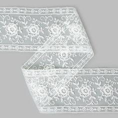 Valencienne-Spitzeneinsatz 1 (55) - Polyester - wollweiss