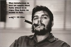 ernesto guevara quote poster THE REVOLUTION IS NOT AN APPLE THAT FALLS 24X36