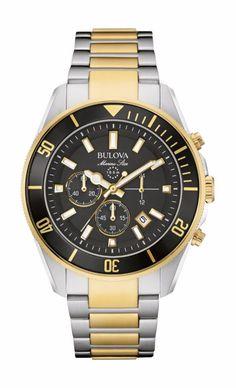 b039f0a1686 Bulova Marine Star Men s Refurbished 98B249 Chronograph Quartz Two Tone  Watch - BULOVA AUTHORIZED FACTORY REFURBISHED